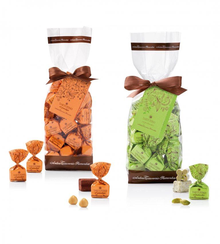 Tartufini dolci al pistacchio e al gianduja