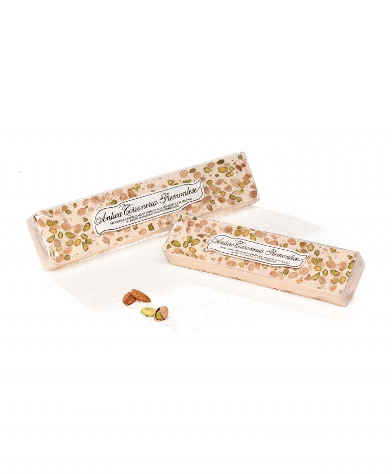 Torrone friabile mandorle e pistacchi