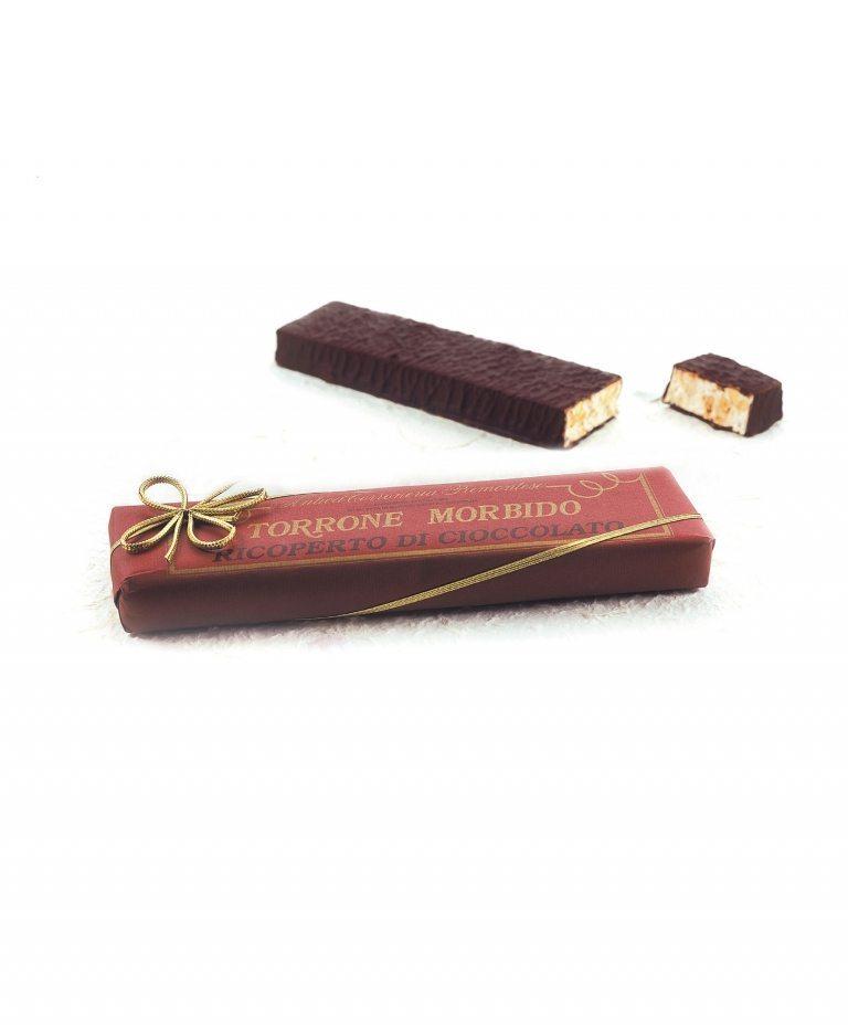 Torrone morbido ricoperto di cioccolato