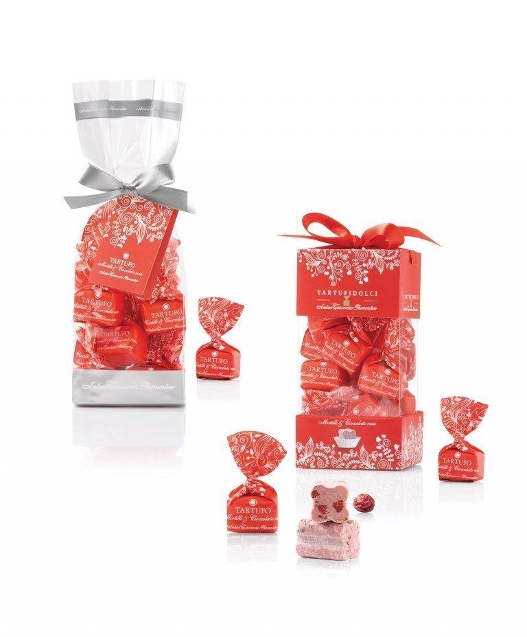 Tartufi dolci mirtilli & cioccolato rosa
