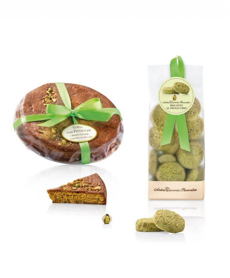 Torta e biscotti con pistacchi